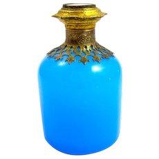 Palais Royal Blue Opaline Glass Perfume Bottle