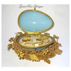 Palais Royal French Opaline Glass Etui, circa 1860