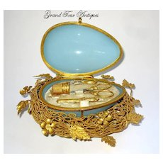 Palais Royal French Opaline Glass Etui, circa 1860