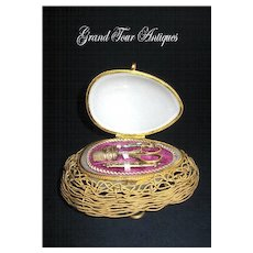 Palais Royal Opaline Etui on Dore Bronze Nest.
