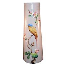 French 19th Century Opaline Glass  Vase