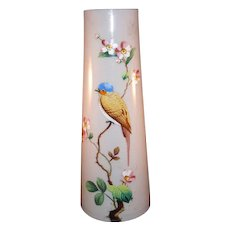 French 19th Century Opaline Glass  Vase