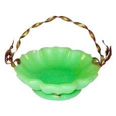 Dinky Opaline Glass Basket 1860