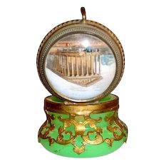 Palais Royal Opaline Box & Cover with Miniature