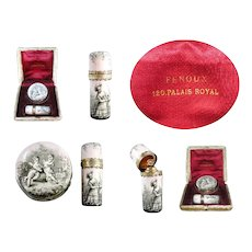 Rare Palais Royal Pill Box & Perfume Bottle