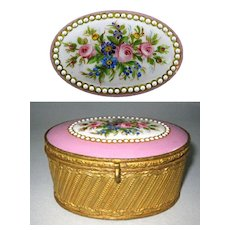 French 19th Century Porcelain Casket