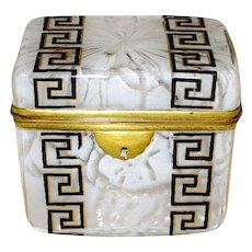French Casket with Greek Key Design