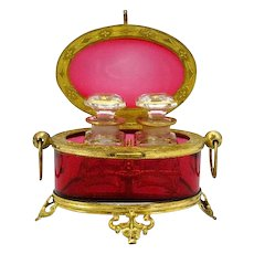 Baccarat Ruby Glass Scent Casket