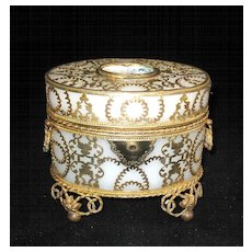 Palais Royal Opaline Casket with Miniature
