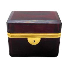 French Ruby Red Casket Circa 1860