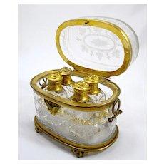 Antique Baccarat Scent Casket
