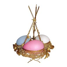 Palais Royal Opaline Glass Egg Wigwam