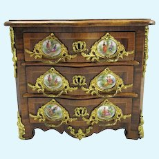 RARE Antique French Miniature Chest of Drawers