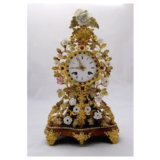 French 19th century 'Jeweled' Clock
