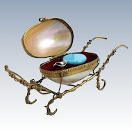 Palais Royal Mother of Pearl Scent Bottle Cart