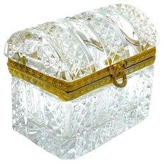 Antique French Cut Crystal Casket