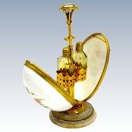 Antique Baccarat French Opaline Scent Bottle Casket