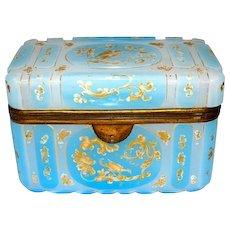 Antique Bohemian 'Barfatan' Opaline Casket