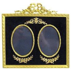 Antique Napoleon III Double Dore Bronze Frame