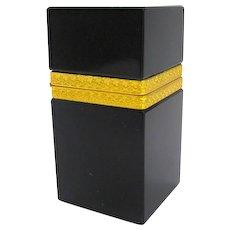 Antique Black Opaline Glass Casket Box
