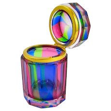 Pretty Murano 'Rainbow' Casket Box.