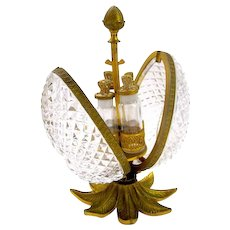 Antique Baccarat Perfume Crystal Casket Box