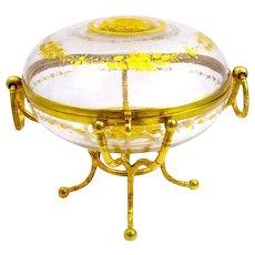 Large Antique Crystal Casket Signed Alph Giroux, Paris