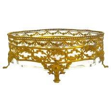 Antique Napoleon III Dore Bronze and Crystal Jardiniere