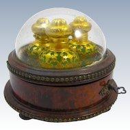 Rare Palais Royal Opaline Glass Perfume Set