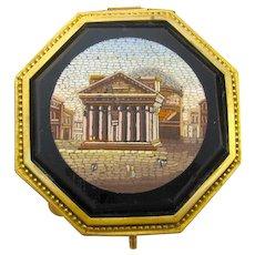 Museum Quality Antique Italian Grand Tour Micro Mosaic Jewellery Box