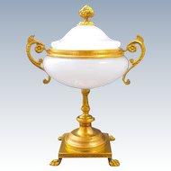 Antique French Opaline Glass Centrepiece
