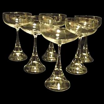 Discontinued Rosenthal Studio Line Clairon Set of 6 Liquor Cocktails Stemware
