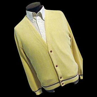 Vintage Columbia Knit Portland Oregon Thunderbird Cardigan Sweater Mens Lg