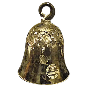 Rogaska Gallia Etched Small Crystal Bell with Sticker
