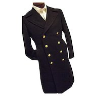 Vietnam Era 1967 100% Wool Bridge Coat Peacoat USN Navy Mens 39R