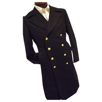 Vietnam Era 1967 100% Wool Bridge Coat Peacoat USN Navy Mens 39R