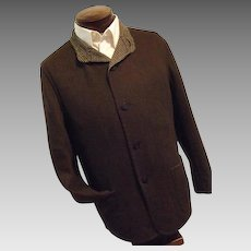 Ermenegildo Zegna Mens 100% Cashmere Lt Wt Car Coat Jacket Brown 54 US Med