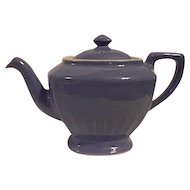 Vintage Hall Pottery Hollywood Style Teapot Medium Blue