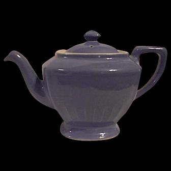 Vintage Hall Pottery Hollywood Style Teapot Medium Blue