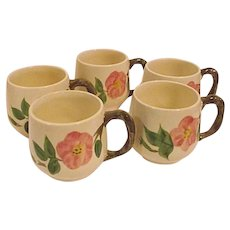 DESERT ROSE ENGLAND Franciscan Set of Five 5 Small Mugs