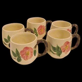 DESERT ROSE ENGLAND Franciscan Set of Five 5 Small Mugs