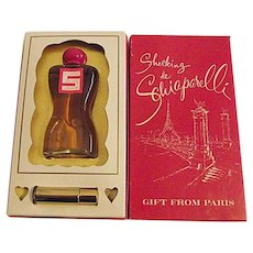 Vintage Shocking de Schiaparelli Paris 4 oz Cologne 1/8 Oz Perfume Torso Box
