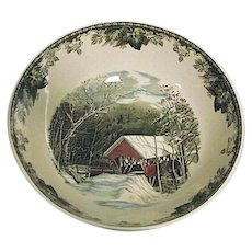 "RARE Vintage The Friendly Village Johnson Bros England Large 12"" Salad Bowl EXCELLENT"