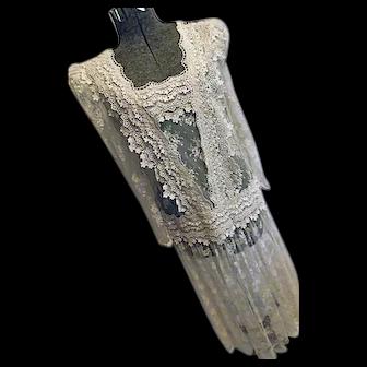 GORGEOUS Michael Marcella Ltd Womens Edwardian Style Teadress Dress Ecru Lace 10