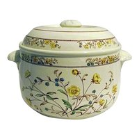 Spode Buttercup 2-1/2 Quart Imperial Cookware Covered Casserole Bakeware
