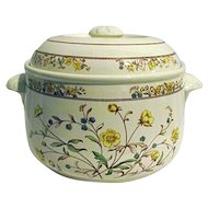 Spode Buttercup 2-1/2 Quart Imperial Cookware Covered Casserole Bakeware