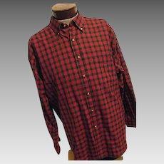 CHRISTMAS Sir Pendleton Mens Worsted Wool Shirt Macduff Tartan Plaid Red XL