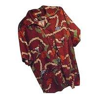 Tommy Bahama 2002 CHRISTMAS Santa Hawaiian Shirt Every Day is a Holiday Med