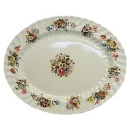 "BEAUTIFUL Vintage Aynsley Fine Bone China England Summertime 15"" Floral Platter $129"