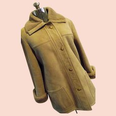 PLUSH & WARM Vintage Norm Thompson Genuine Shearling Womens Coat 18 XL The Sheepskin Shop